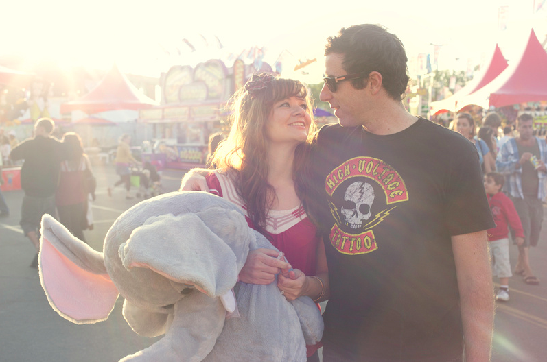 Amusement parks- Most of us are kids at heart and there is nothing better than a fun date. Take a load off and have fun. Hold his hand on scary rides and give him a chance to play games and try to win you a prize