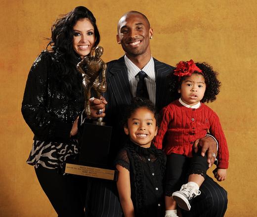 Vanessa and Kobe with Family