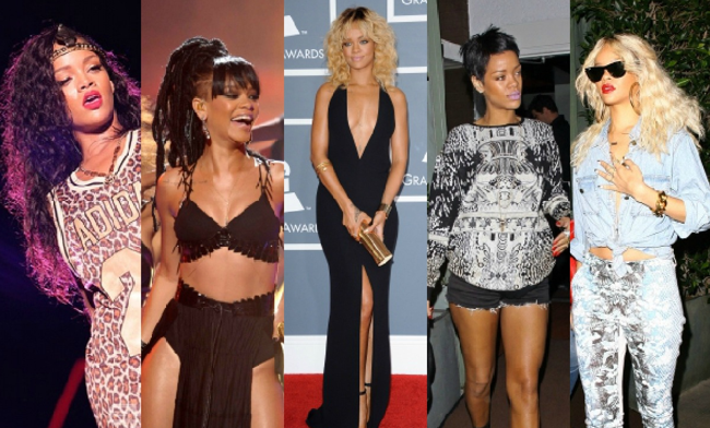 2009- Experimenting. As Rihanna grows she is obviously experimenting with her fashion