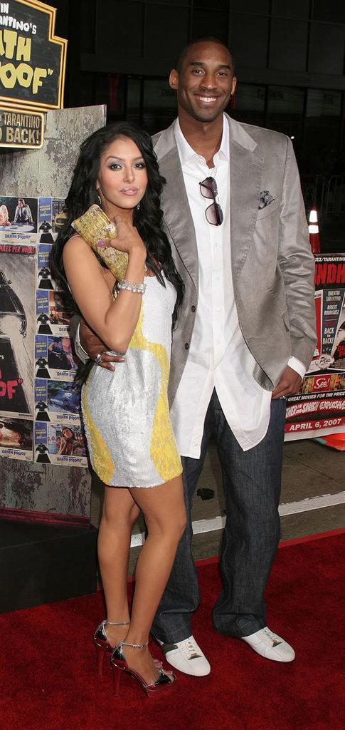 Vanessa and Kobe making one of many appearances