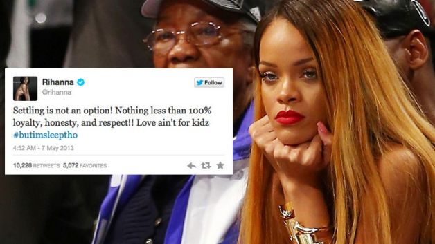 2013- Finally!! After getting tired of the playing the second wheel, Rihanna finally decides to give up her relationship with Chris and move on with her life.